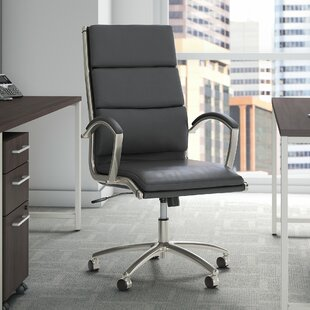 Studio C High Back Genuine Leather Conference Chair