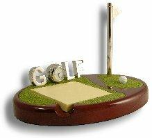 Budd Leather Mini Golfers Green in Mahogany