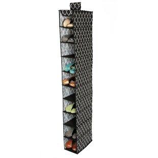 Best Reviews Quatrefoil Cambridge 10-Compartment Hanging Shoe Organizer ByRichards Homewares