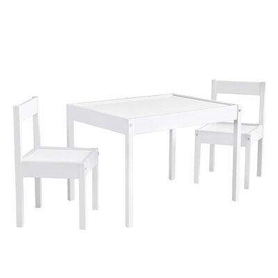 Mack & Milo Ramona 3 Piece Rectangular Writing Table and Chair Set Color: White