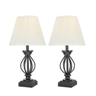 Black wire table lamp wayfair columbard high traditional metal wire 95 table lamp set of 2 keyboard keysfo Image collections