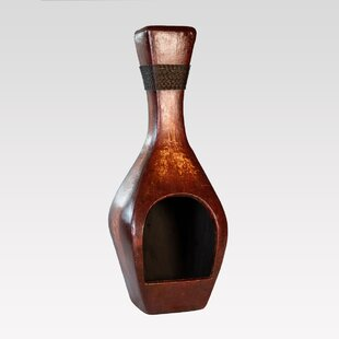 REZ Furniture Bottle Clay Wood Burning Ch..