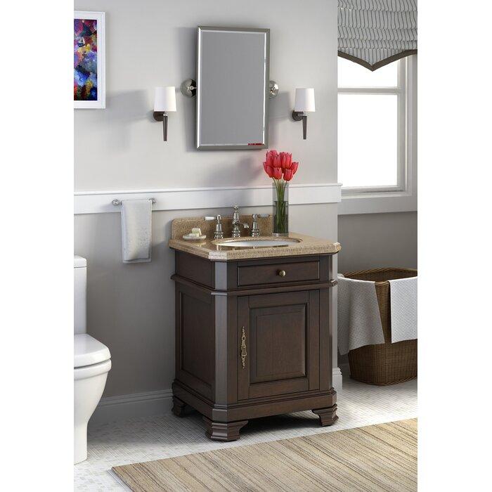 . Perkin 28  Single Bathroom Vanity Set with Mirror