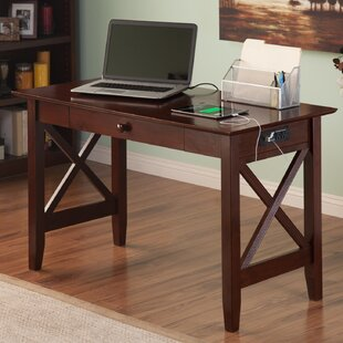 Dowdle Solid Wood Writing Desk by Andover Mills No Copoun