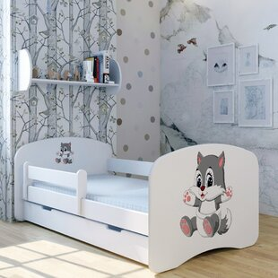 Kitty Lili Bed With Mattress And Drawer By Zoomie Kids