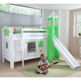 Review Faircloth Single Bunk Bed With Curtain, Tower And Pocket