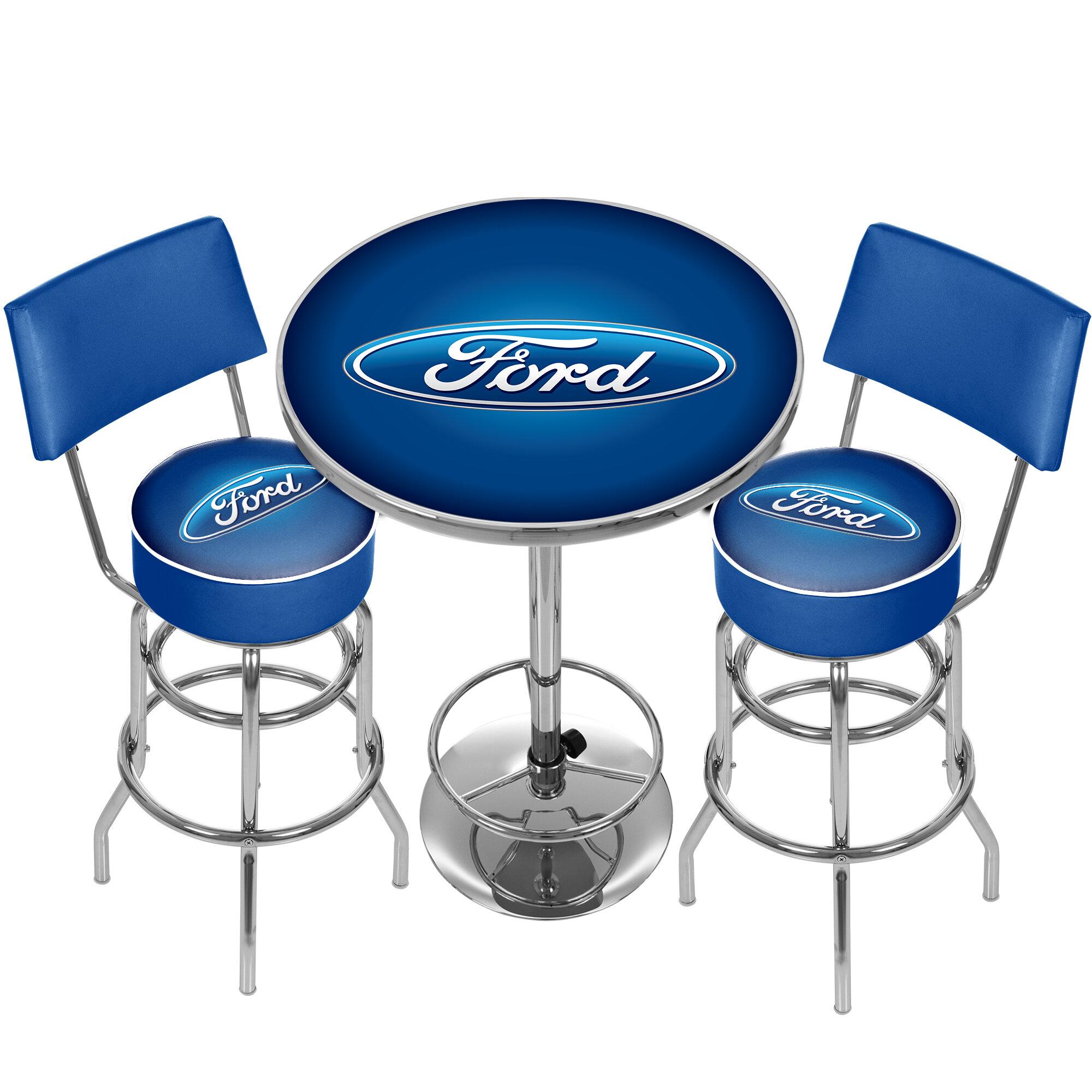 Trademark Global Ford Game Room Combo 3 Piece Pub Table Set | Wayfair