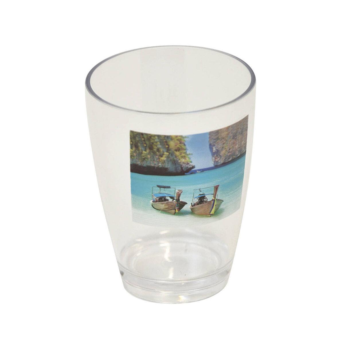 Evideco Paradise Clear Acrylic Printed Tumbler Wayfair