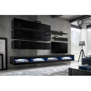 Loney Wall Mounted Floating Entertainment Center for TVs up to 90