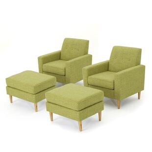 Langley Street Ezequiel Armchair and Ottoman Set (Set of 2)