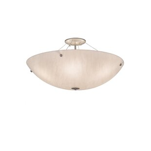 Guerin 6-Light Semi Flush Mount by Red Barrel Studio