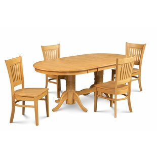 Breakwater Bay Miriam Solid Wood 5 Piece Extendable Dining Set
