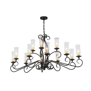 2nd Ave Design Wallis Oval 14-Light Shaded Chandelier