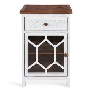 Majewski Wood End Table with S..