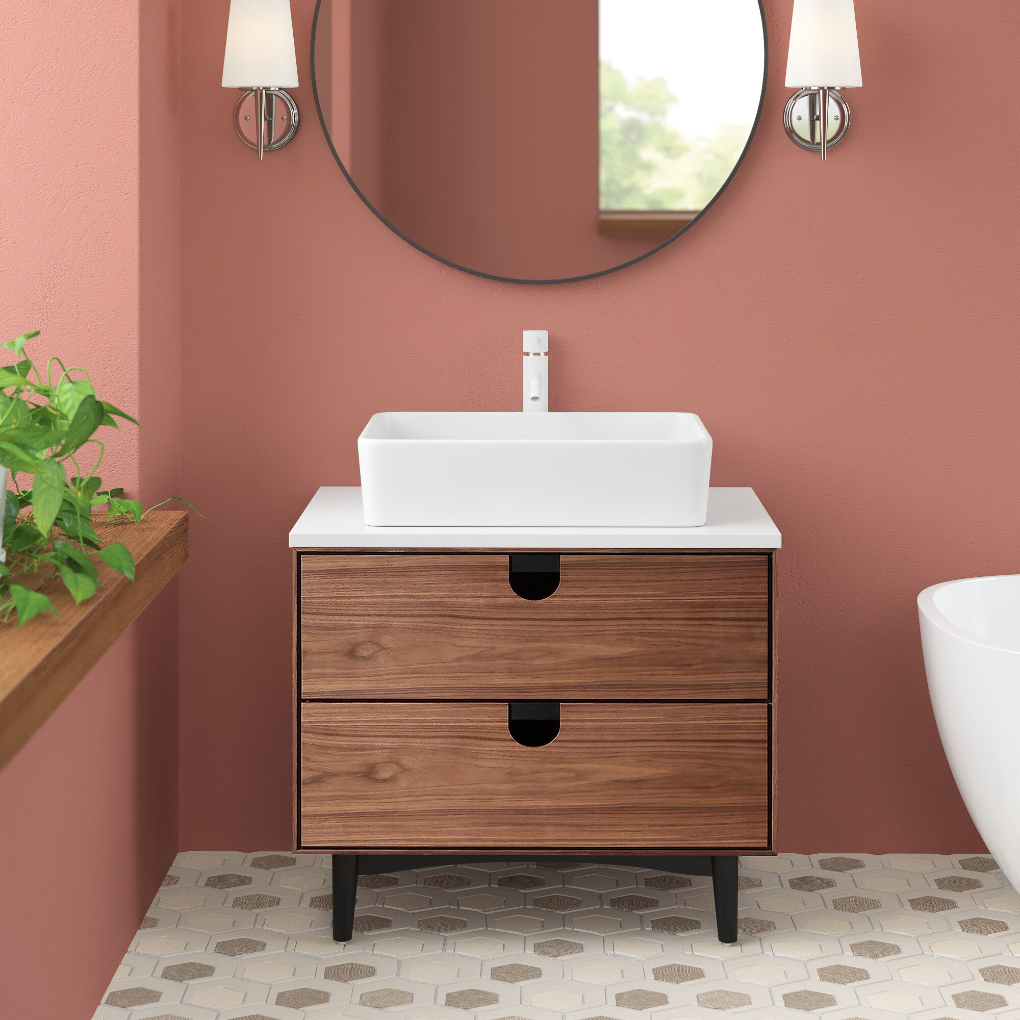 Kartonrepublic Portree 30 Single Bathroom Vanity Reviews Wayfair