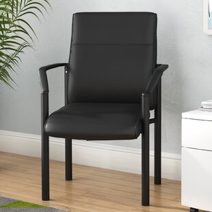 Leather Guest Chair by Symple Stuff