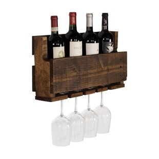 Kindred 4 Bottle Wall Mounted Wine Rack b..