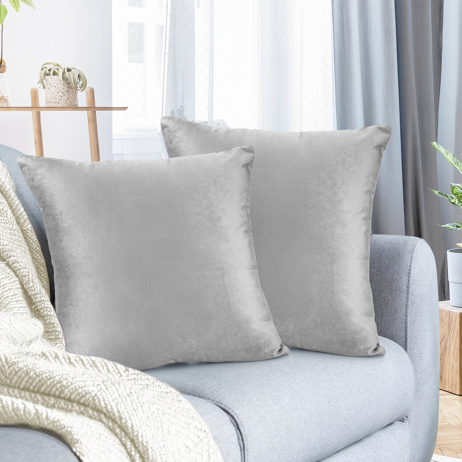 Gray Silver Yellow And Gold Throw Pillows You Ll Love In 2021 Wayfair