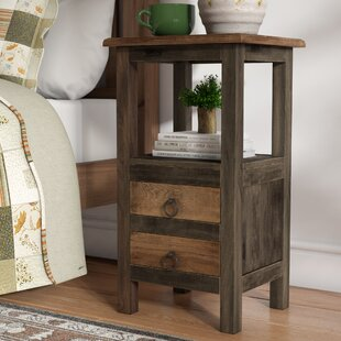 Plattsburgh 2 Drawer End Table by Loon Peak