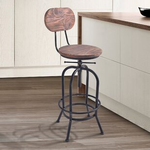 Poitras Adjustable Height Swivel Bar Stool Gracie Oaks