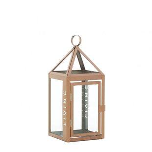 Bargain Metal Living Stainless Steel Lantern By Gracie Oaks