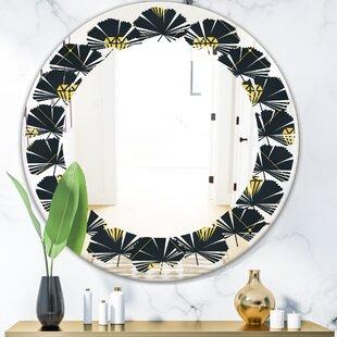 Wave Luxury Drops II Modern Wall Mirror by East Urban Home