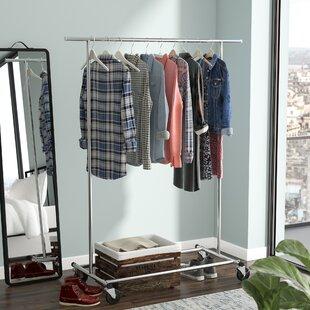 70.6 W Single Rod Garment Rack by Rebrilliant