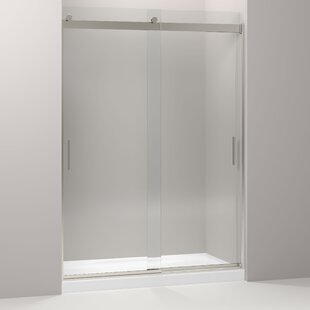 Levity 59.63 inch  x 82 inch  Double Sliding Shower Door with Blade Handles with CleanCoat® Technology