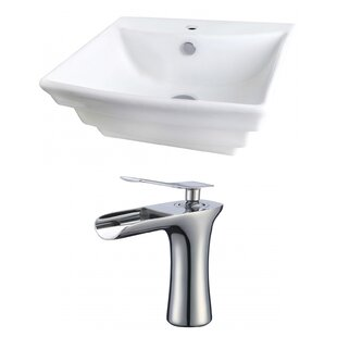 Find Ceramic 20 Wall-Mount Bathroom Sink with Faucet and Overflow ByRoyal Purple Bath Kitchen
