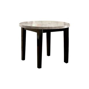 Sollars Marble Top Round Dining Table