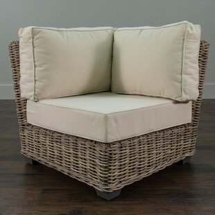Rosecliff Heights North Bay Driftwood Rattan Corner Chair with Cushion