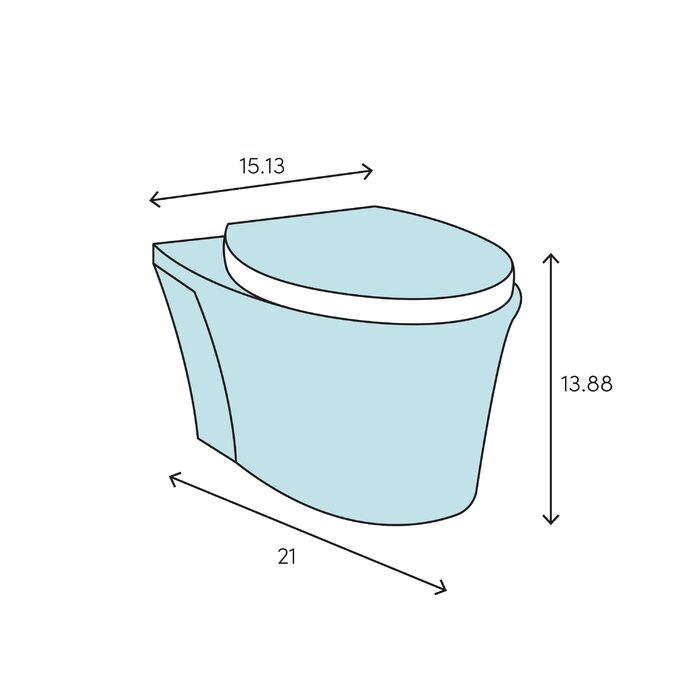 Pleasant Veil One Piece Elongated Dual Flush Wall Hung Toilet With Reveal Quiet Close Seat Theyellowbook Wood Chair Design Ideas Theyellowbookinfo