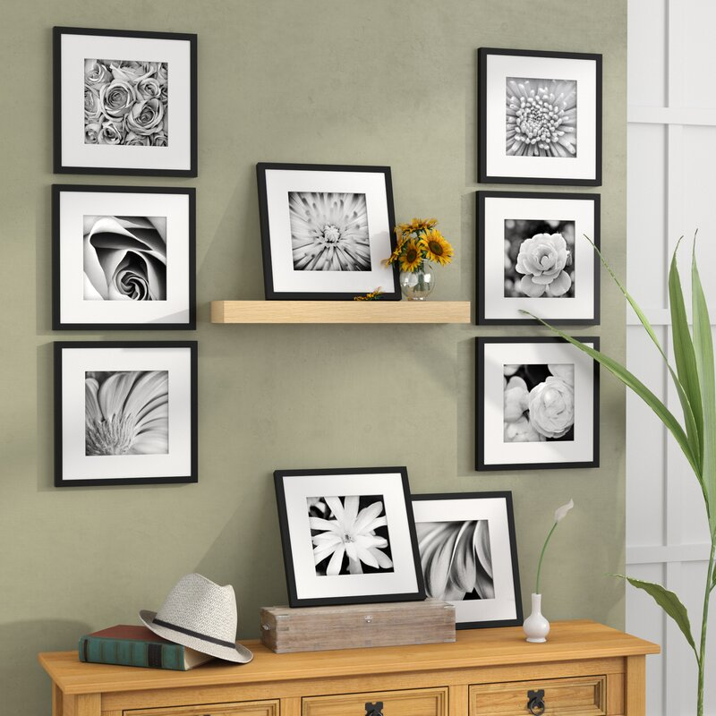Estinnes 9 Piece Wood Picture Frame Set