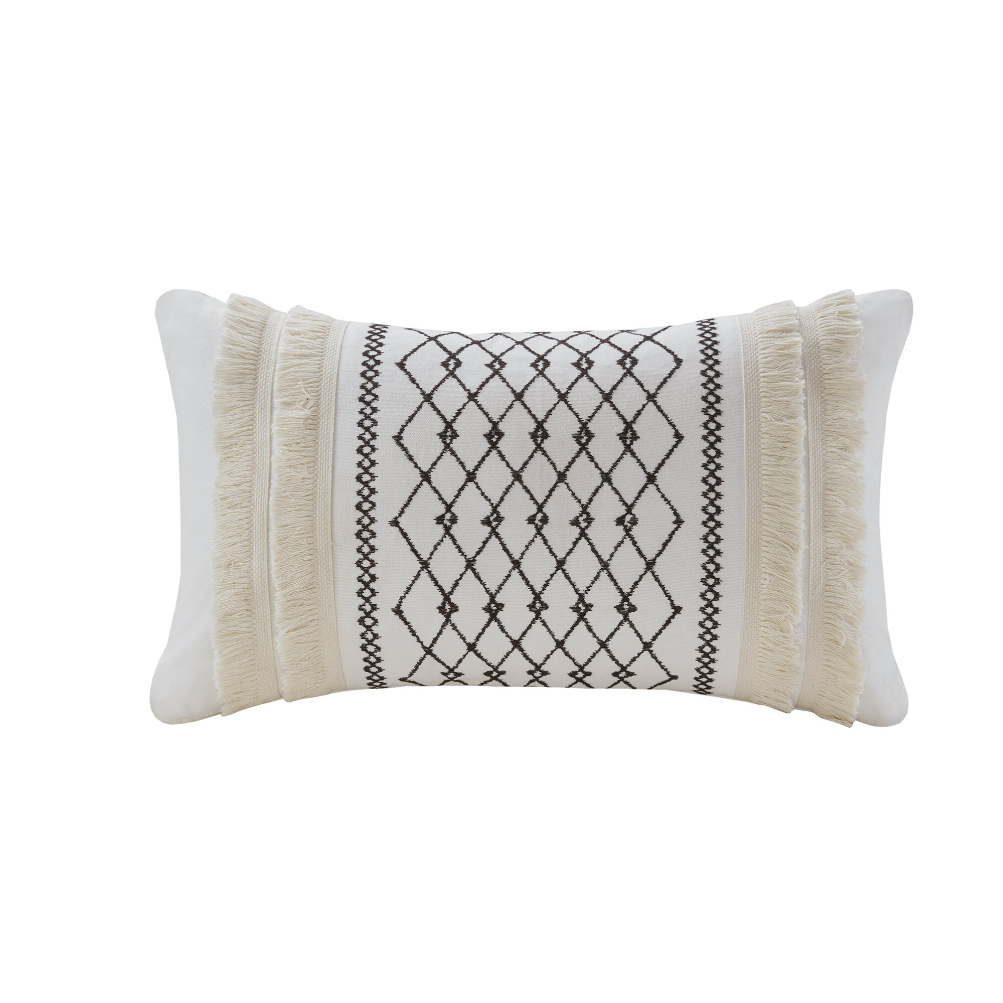 Fine Kulick Embroidered Oblong Cotton Throw Pillow Theyellowbook Wood Chair Design Ideas Theyellowbookinfo