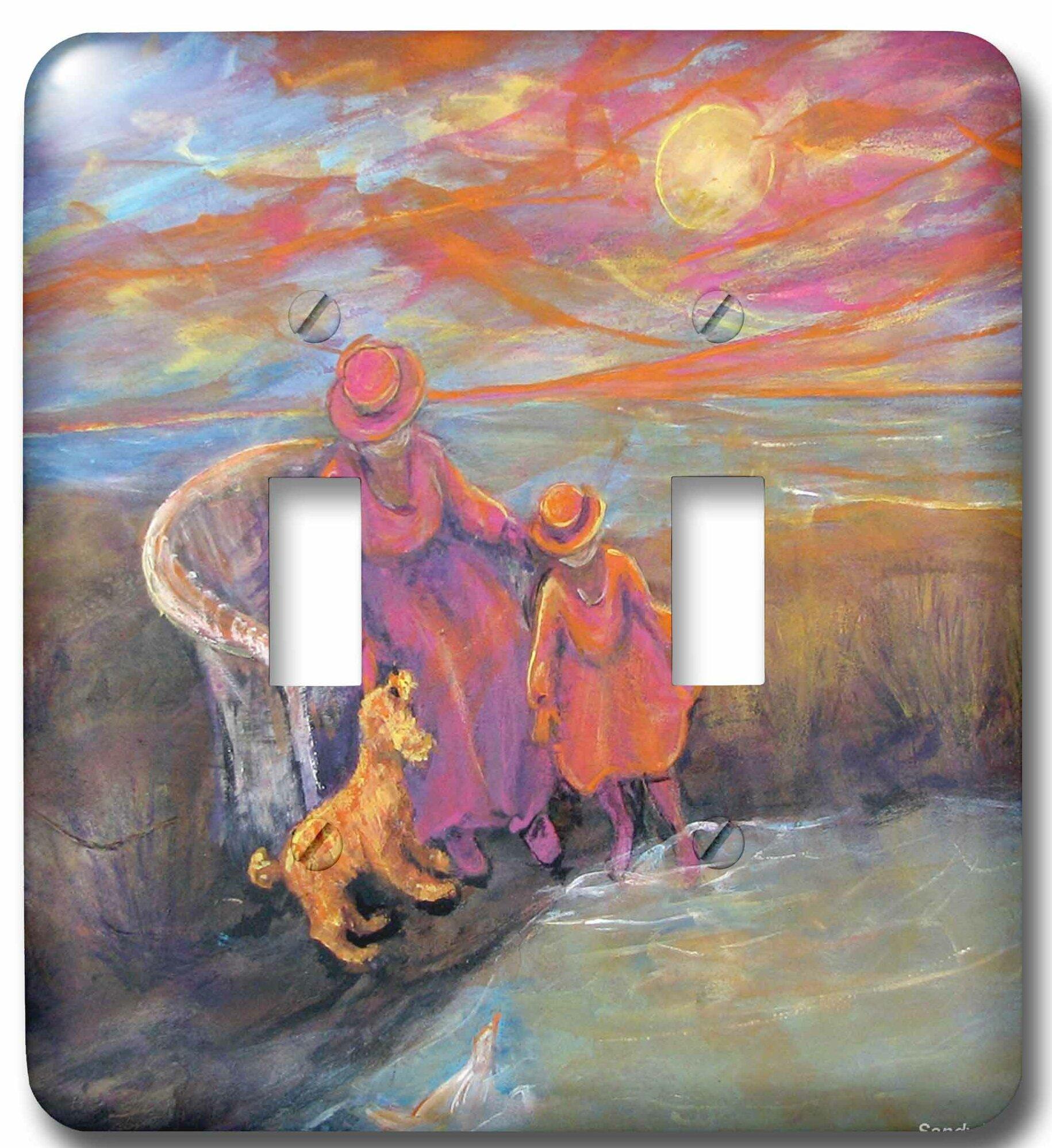 3drose Sun Kissed Memories Seaside Sunset Frames Grandma Granddaughter Pet Puppy 2 Gang Toggle Light Switch Wall Plate Wayfair
