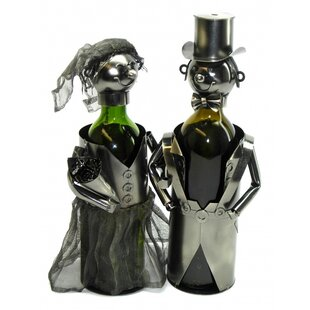 Bride and Groom 2 Bottle Tabletop Wine Ra..