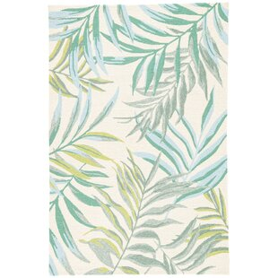 Halona Hand Hooked Green/Cream Indoor/Outdoor Area Rug