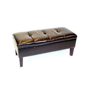 Winston Porter Melina Upholstered Storage Bench