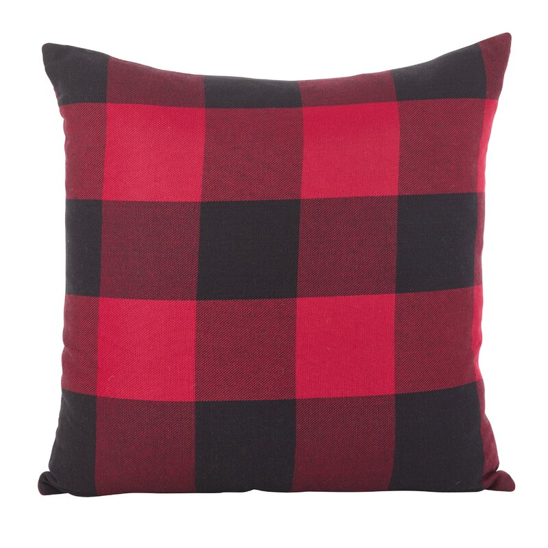 Kamron Buffalo Cotton Throw Pillow