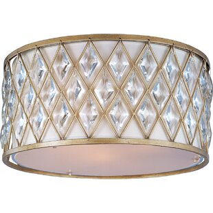 Willa Arlo Interiors Destine 3-Light Flush Mount