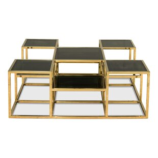 Taylor Coffee Table with Nested Stools  by Sarreid Ltd