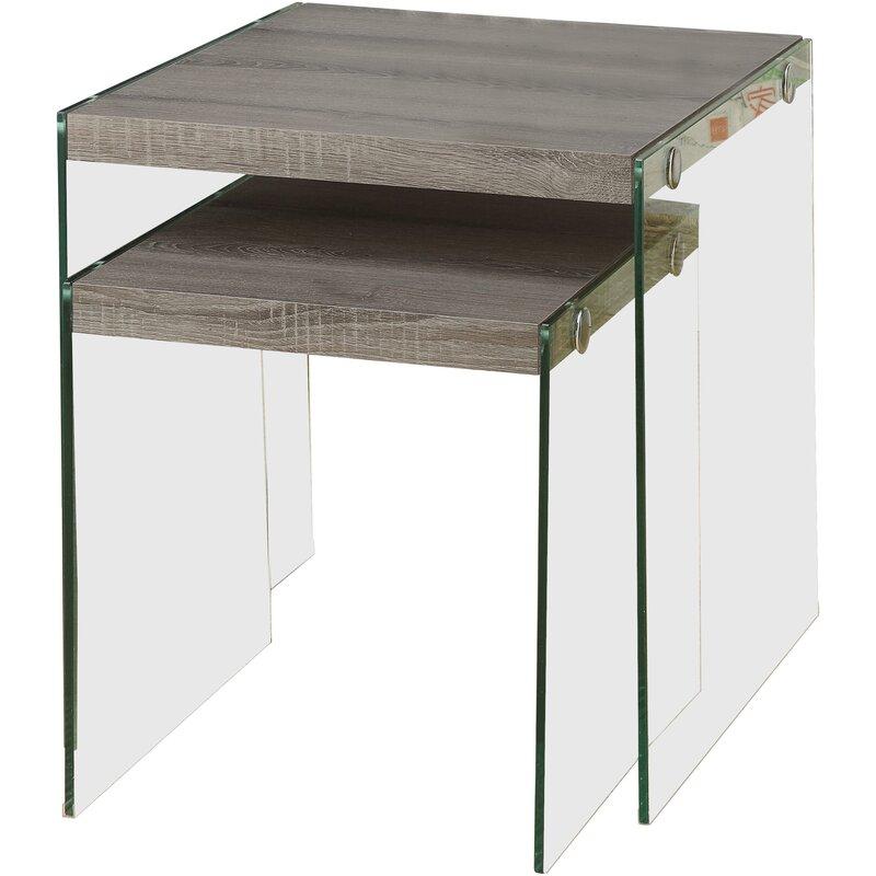 Orren Ellis  Garofalo 2 Piece Nesting Tables
