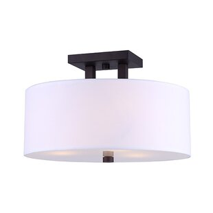 Latitude Run Resaca 3-Light Semi Flush Mount