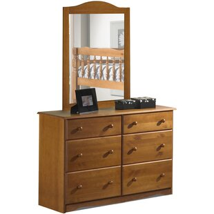 West Newbury 6 Drawer Double Dresser with Mirror