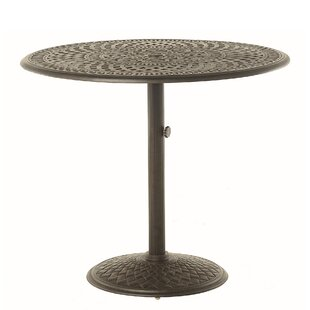 Merlyn Pedestal Aluminum Bar Table by Fleur De Lis Living Cool