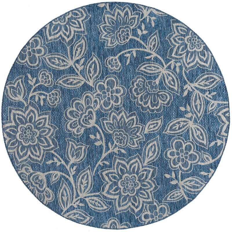August Grove Stephane Transitional Indigo Indoor/Outdoor Area Rug, Size: Rectangle 67 x 96