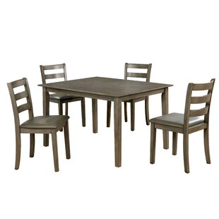 Trystan 5 Piece Dining Set by Millwood Pines 2019 Sale