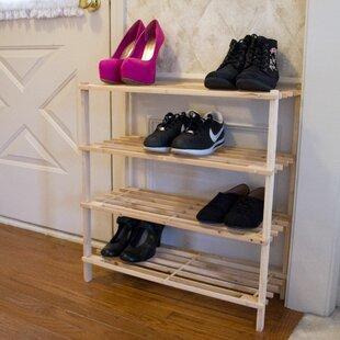 Lavish Home 4-Tier 12 Pair Shoe Rack