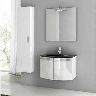 Crystal Dance 30 Single Bathroom Vanity Set with Mirror by ACF Bathroom Vanities
