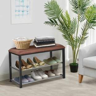 2 Tier Soft Seat Shoe Storage Bench